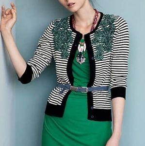 Anthropologie Tabitha Moss Striped Cardigan
